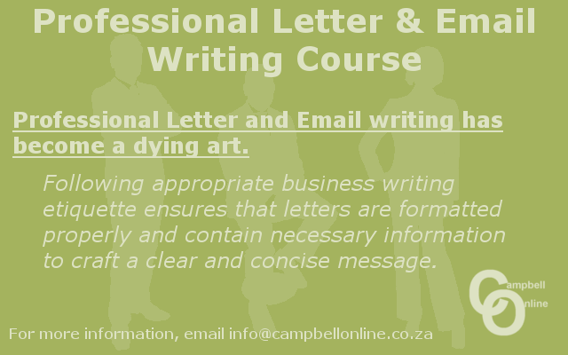 Professional letter and email writing course
